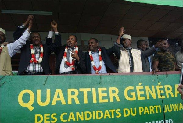 COMOROS : Le parti JUWA inaugure son quartier général à Hadoudja