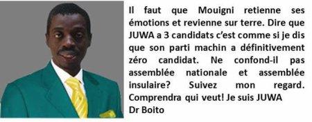 Comores / Elections : Pour Mouigni Baraka le parti Juwa ne compte que  3 candidats