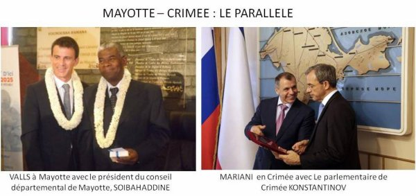 VALLS à MAYOTTE, et MARIANI en Crimée. Ngavo problème ?