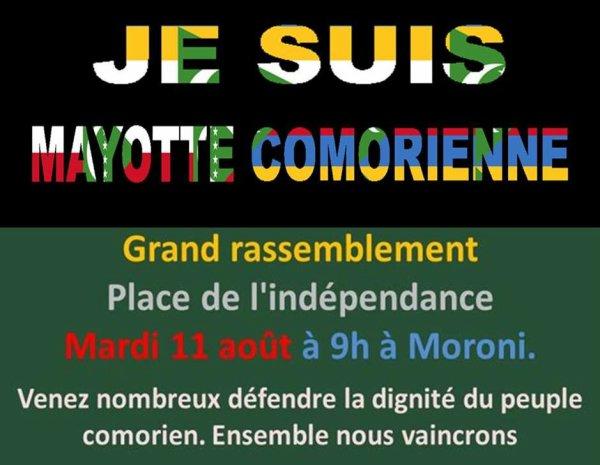 MAYOTTE : TOUS UNIS POUR FAIRE PRESSION SUR LA FRANCE