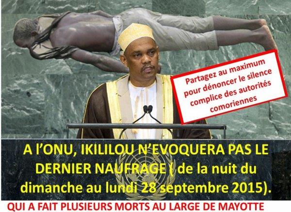 COMORES / NAUFRAGE : Le silence des autorités comoriennes à l'ONU