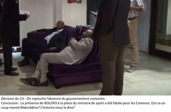 JIOI : La présence de BOLERO à la place du ministre a été fatale pour les COMORES.