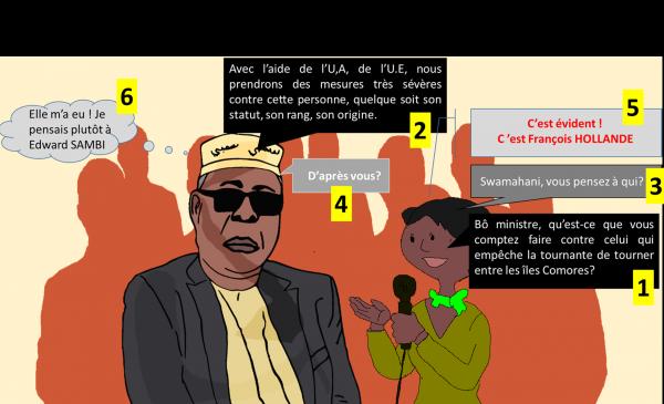 Comores : MSAIDIE ridiculisé par une journaliste