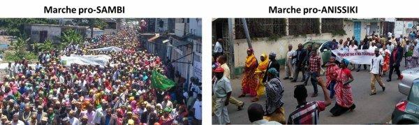 La marche pro-Anissiki contre la candidature de Sambi : Il n'y a pas photo