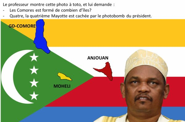 Mayotte s'invite sur le photobomb du président des Comores.