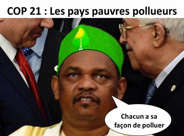 Le Président IKILILOU le plus grand pollueur de la COP21 PARIS ?