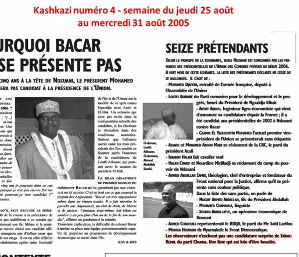 COMORES : Le sort de la candidature de Sambi serait-il déjà scellé ?