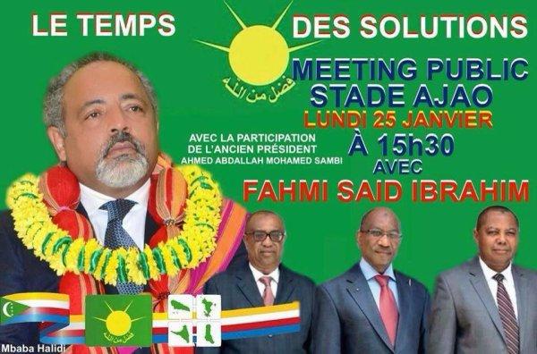 LUNDI 25 janv à 15h30 au Stade AJAO (Moroni) : FAHMI