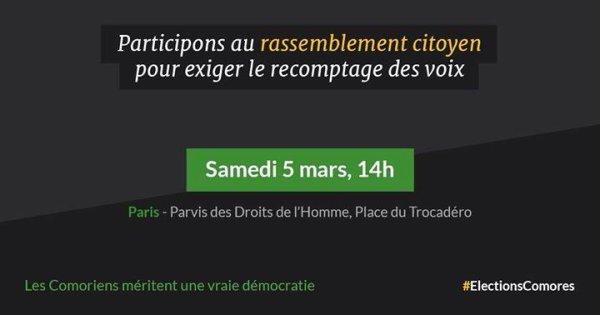Comores : Communiqué de l'équipe FAHMI