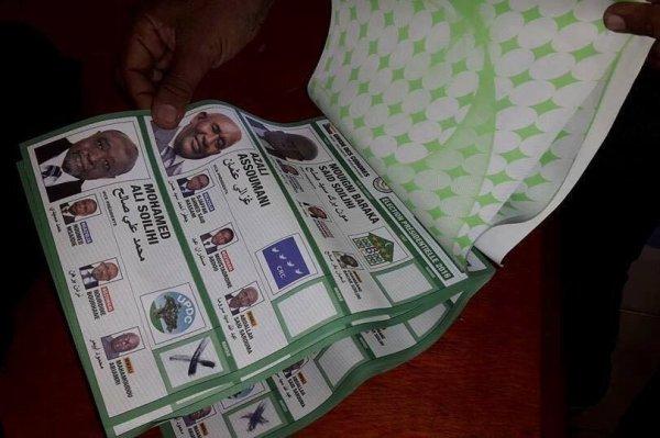 Des bulletins pré cochés en faveur de Mamadou à ANJOUAN.