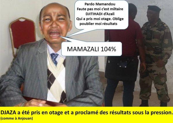 COMORES : Dr DJAZA pris en otage proclame les résulats