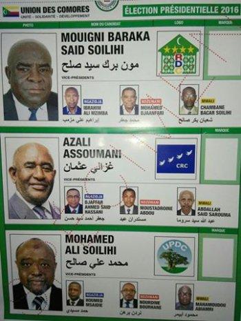 Météo électorales à ANJOUAN: Les bulletins de KAY