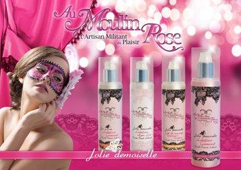 Nouvelle affiche publicitaire des nouveautés Au Moulin Rose présentée lors de la Rose Day !