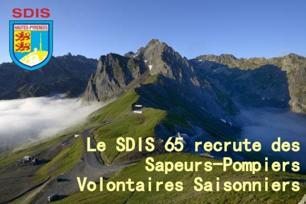 LE SDIS65 RECRUTE