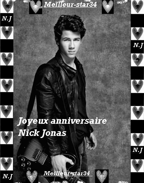 Joyeux anniversaire Nick Jonas $) :)