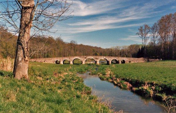 573 *  Pont de pierre ( Vaux le Vicomte )