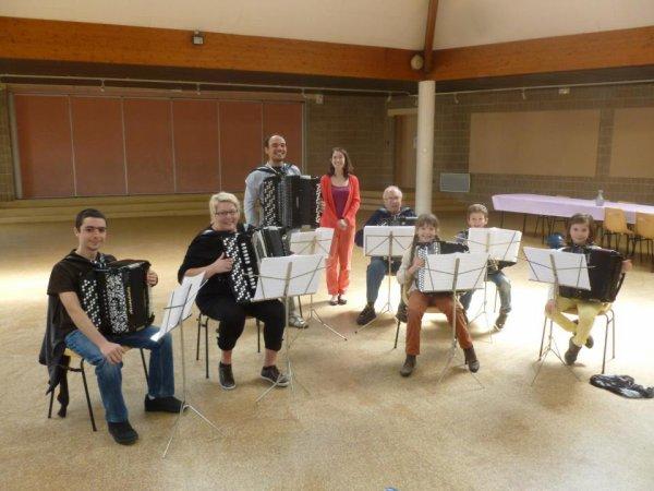 1er Stage d'accordéon pour les petits