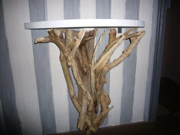 console bois flott 120 pi ce unique et originale steph deco. Black Bedroom Furniture Sets. Home Design Ideas