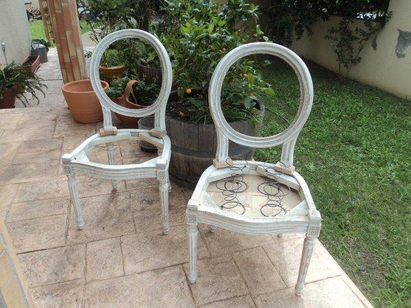 Préparations de mes chaises