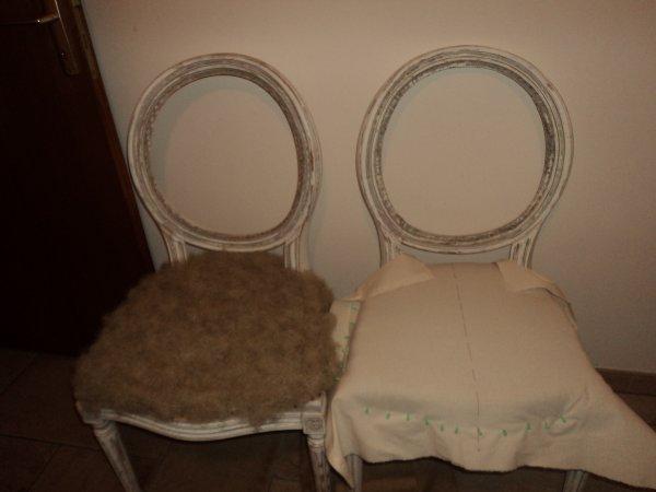 Voici la suite de mais chaises