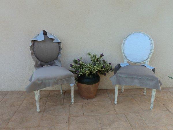 Bientôt  la fin de mes 2 chaises!!!!!