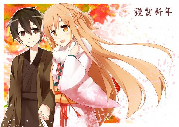 Kirito & Asuna en Kimono