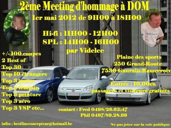 2emes meeting en hommage a DOM ne pas rater