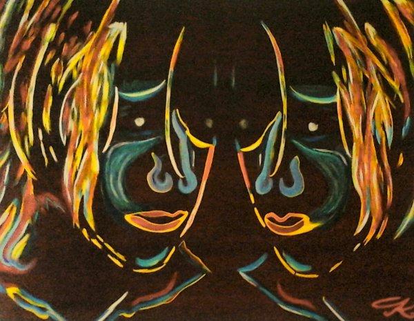 """ Mirror"" par Mlle Gk ( format 90 X 70 )"