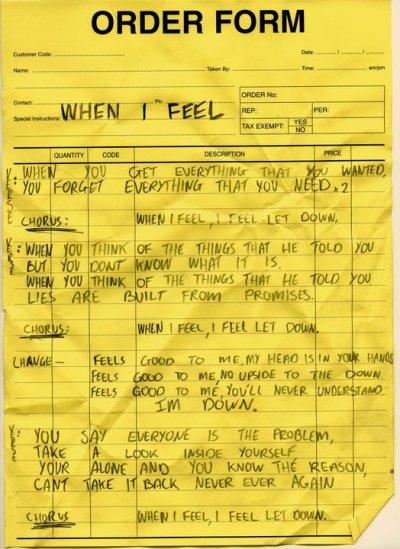 When I feel - Paroles