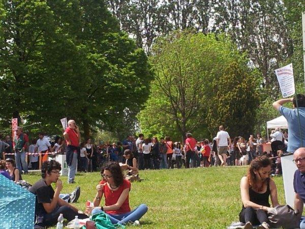 25 Aprile a Casa Cervi: giornata estiva, ottima cucina, tantissime persone e famiglie
