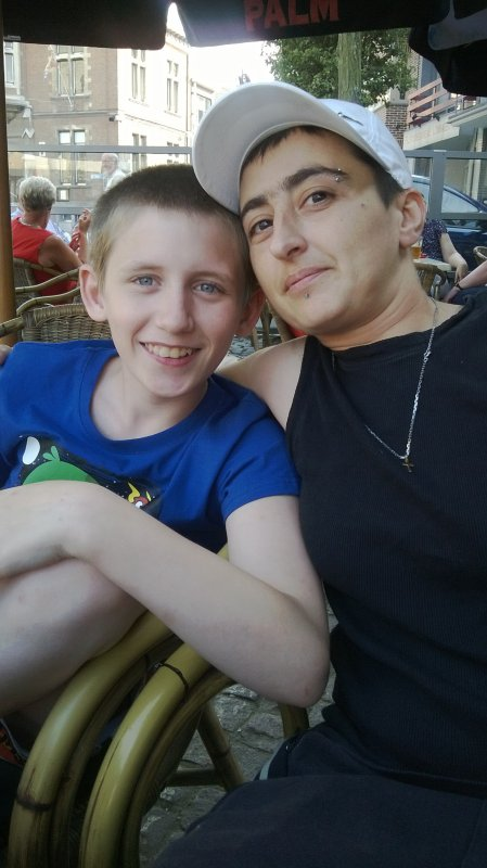 moi et mon filleul malo