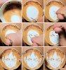 Un dessin manga dans une tasse de café