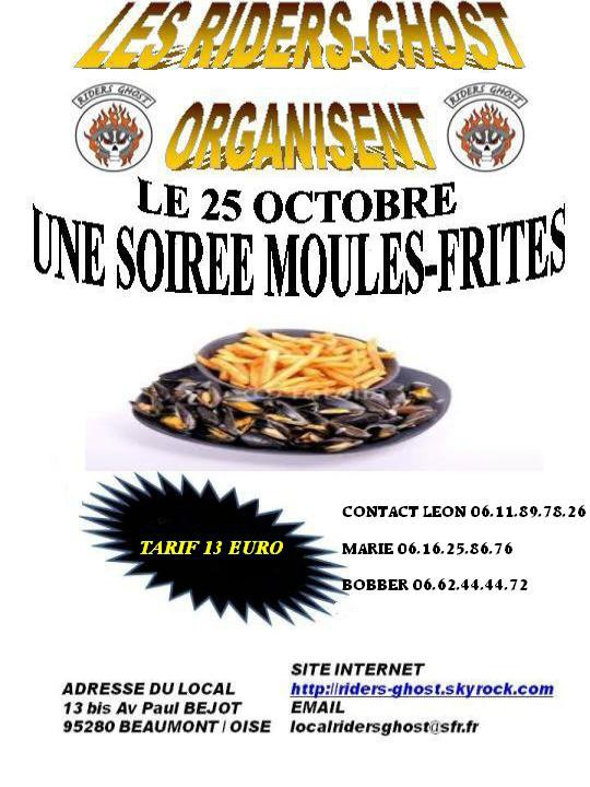 MOULES FRITES CHEZ LES RIDERS GHOST