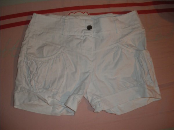 Short blanc façon jean