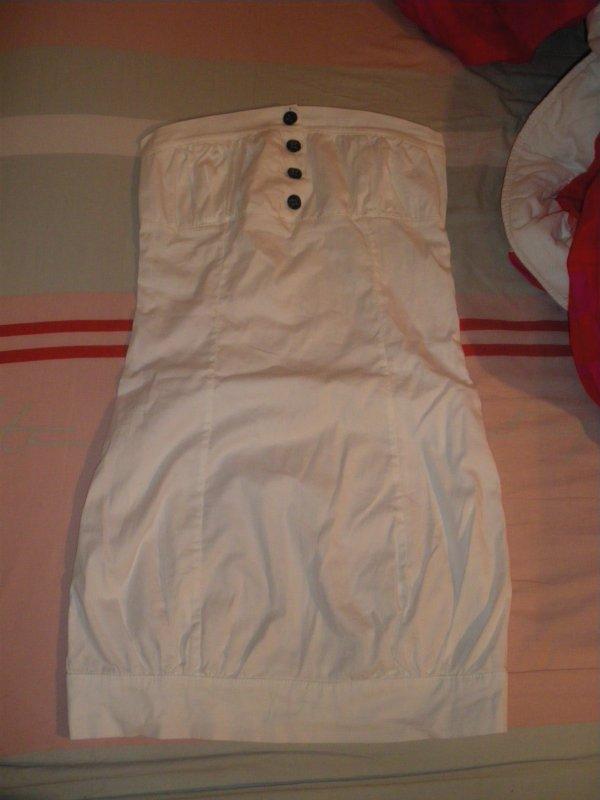 Robe blanche bustier