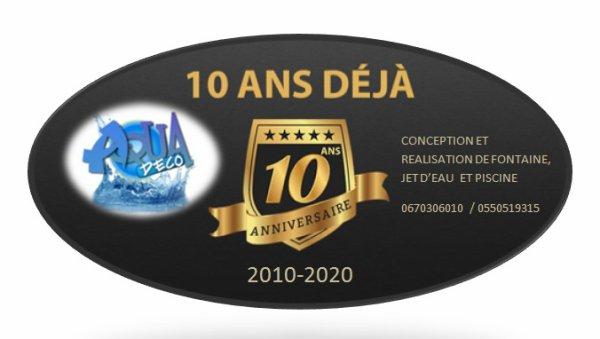 10 ans d'existance,qualité&prix, avec une garantie de une anné.