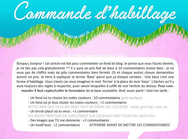 ✜ Commande d'habillage POUR METTRE À JOUR VOTRE BLOG :D