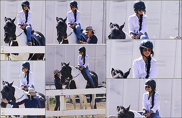 * 16/03/17 : Vanessa s'est rendue, à une leçon d'équitation au « Pacific Coast Horse » - qui se situe à Burbank. Vanessa était très belle, je trouve que les extensions lui vont super bien. J'aime beaucoup sa tenue, ainsi que sa casquette - C'est un Top pour moi !  *