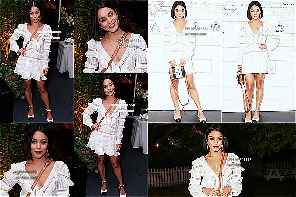 * 23/06/17 : Vanessa a assisté à l'ouverture du restaurant, « EMP Summer House », située dans East Hampton. Vanessa est vraiment ravissante. J'aime bien sa mise en beauté. La robe blanche qu'elle porte est jolie aussi. Son sac est superbe. Un Top pour moi.  *