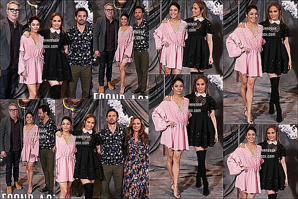 * 09/12/18 :    Vanessa H. était présente lors du Photocall du film « Second Act » à l'hôtel Four Seasons à Los Angeles. Vanessa a posé avec tout le casting du film, dont Jennifer Lopez. Elle est magnifique. Je suis fan de sa mise en beauté. Sa tenue est jolie - C'est un Top.  *