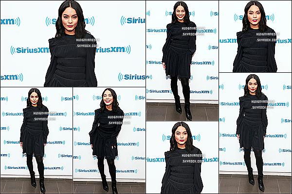 * 12/12/18 :    Vanessa était présente dans les studios de la radio « Sirius XM » se trouvant dans les rues de New York. Vanessa est pas mal occupée en ce moment avec la promotion de son film Second Act. Elle est magnifique. Je suis fan de sa tenue. Donc Top pour moi.  *