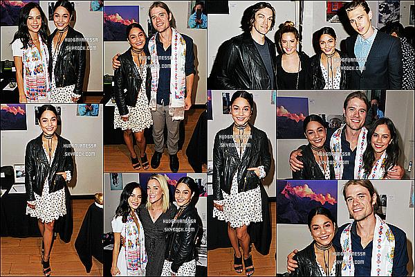 * 07/06/16 : Vanessa était présente à l'événement « Cloud Forest Institute » - qui se déroulait à Santa Monica. Vanessa est vraiment ravissante. Elle était accompagnée d'Austin, d'Ashley Tisdale. J'aime beaucoup sa robe, ainsi que sa veste noire - Donc Top.  *