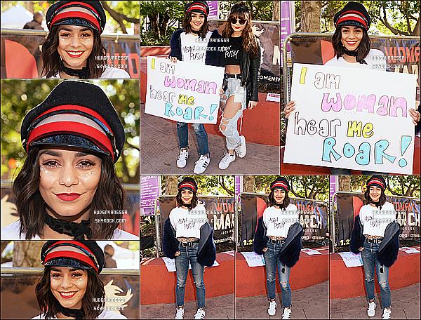 * 21/01/17 : Vanessa a assisté à l'événement « Women's March » qui se déroulait dans les rues de Los Angeles. Vanessa et plusieurs stars défendaient les droits civiques et contre le président Donald Trump. Vanessa est toute belle. J'aime bien sa tenue. Un Top  *