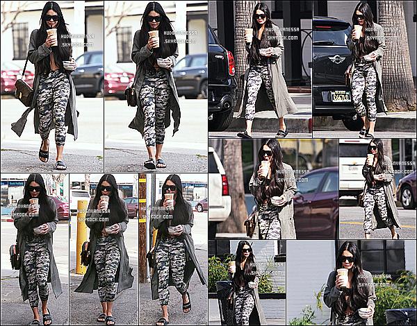 * 17/03/17 : Vanessa a été aperçue lorsqu'elle quittait le « Alfred Coffee & Kitchen », se trouvant à Studio City. Encore dans la même journée, Vanessa a été vue quittant la pharmacie Walgreens dans Studio City. Elle porte la même tenue que précédemment.  *