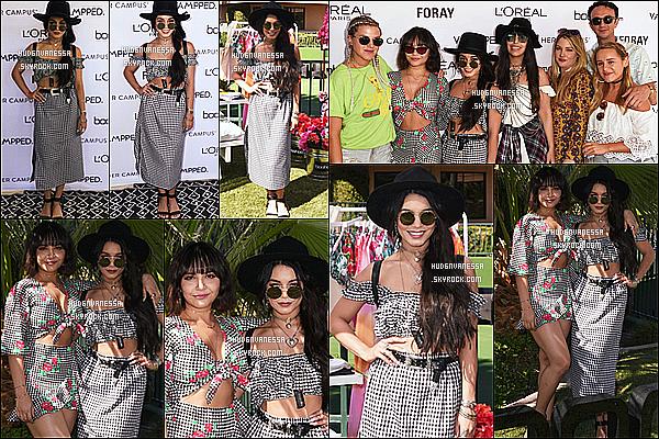 * 14/04/17 : Vanessa H. s'est rendue au premier jour du festival « Coachella Music & Arts Festival », à Indio. Vanessa s'est aussi rendue à l'événement du festival, Party Foray Desert Collectif Party Oasis. Vanesa est ravissante. J'aime bien ses deux tenues.  *