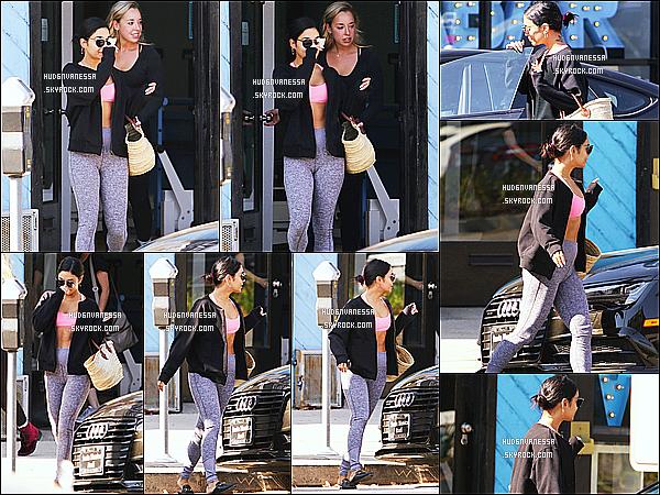 * 14/08/18 :    Vanessa H. a été repérée, alors qu'elle quittait la salle de sport « Wundabar Pilates » - dans Studio City. Vanessa est allée faire du sport avec une amie. Elle est superbe. Elle porte une tenue de sport basique mais que j'aime bien - J'aime aussi ses lunettes !  *
