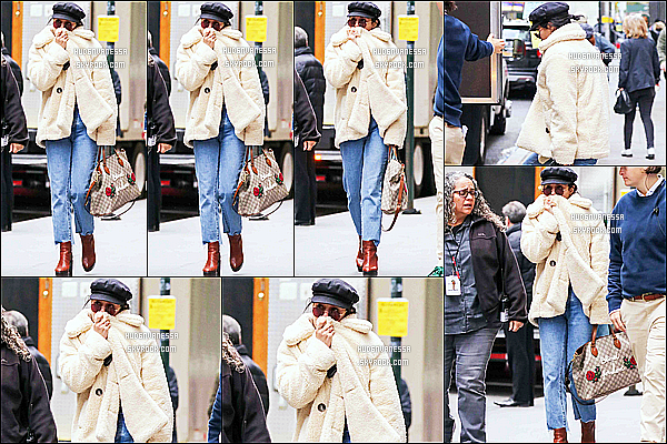* 09/11/17 :    Vanessa H. a été repérée alors qu'elle arrivait sur le tournage du film « Second Act » situé dans  New York. C'est dommage que Vanessa cache son visage avec sa veste. Sinon j'aime beaucoup la tenue qu'elle porte. La casquette lui va bien. Donc Top pour moi.  *