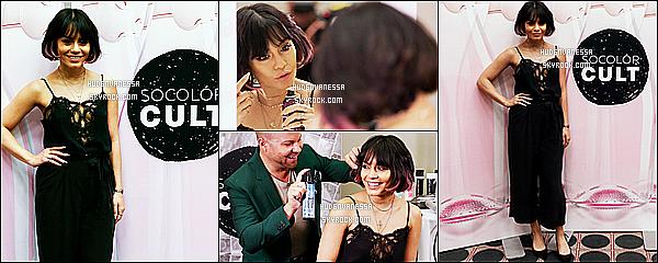 * 05/04/17 :    Vanessa Hudgens a assisté à la conférence « ULTA Beauty » - qui était organisée à Houston - au Texas. Vanessa donnait une interview étant donné qu'elle est ambassadrice de la marque de maquillage SinfulColors. Elle était sublime - Un Top pour sa tenue.  *