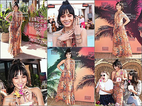 * 11/04/17 :    Vanessa était présente au lancement de la marque « Sinfulcolors x Vanessa Hudgens », à Los Angeles. Vanessa est vraiment ravissante. Je suis fan de sa coiffure et de son maquillage. J'aime beaucoup la robe estivale quelle porte. Je lui donne donc un Top.  *