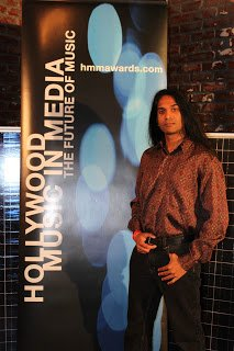 Presenting at the Hollywood Music in Media Awards